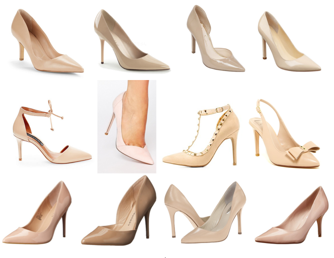 Nude pumps on a budget