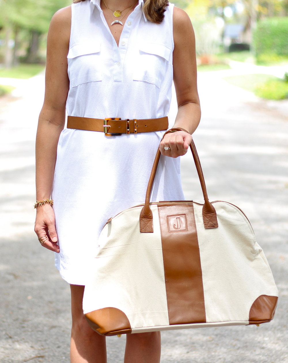 Mud Pie dress and bag