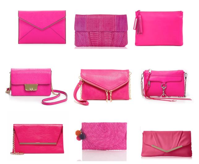 Pink clutches under $200