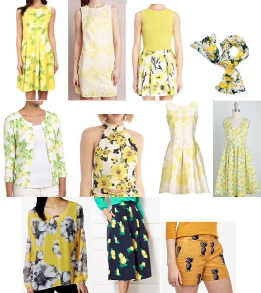 Lemon yellow prints on a budget