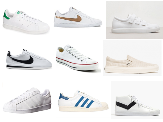 White sneakers on a budget