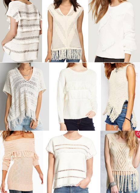 Fringe sweaters under $80