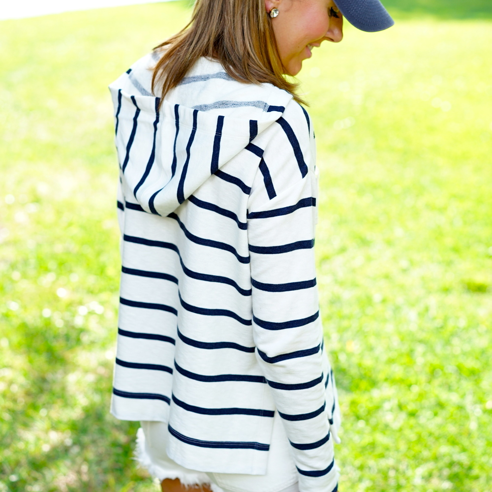 LOFT striped hoodie