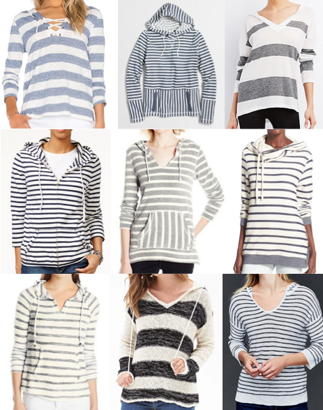 Striped hoodies under $100