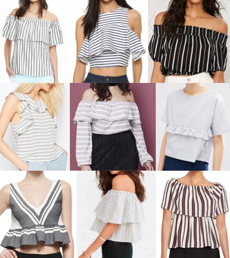 Striped crop tops on a budget