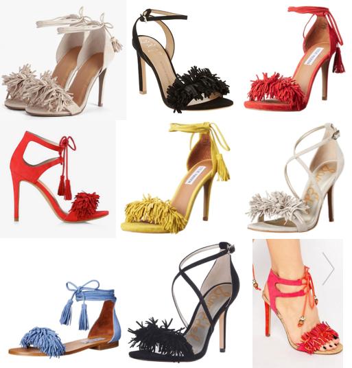 Fringe heels under $100