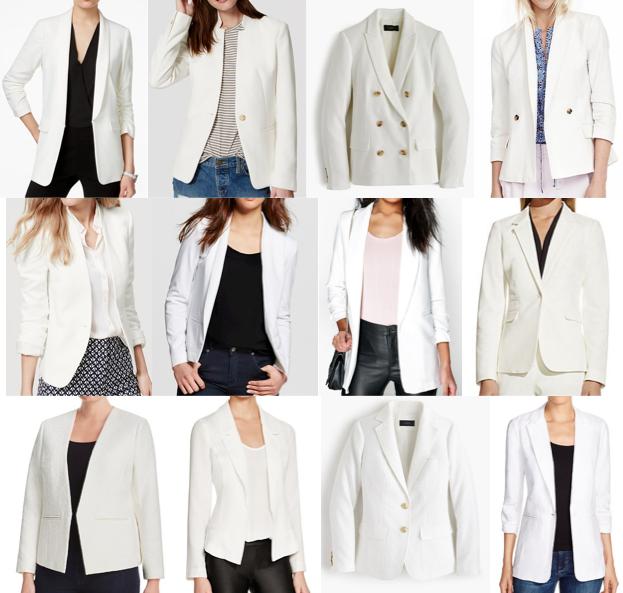White blazers under $150
