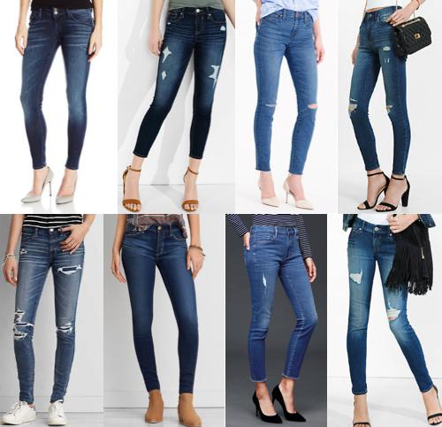 Skinny jeans under $125