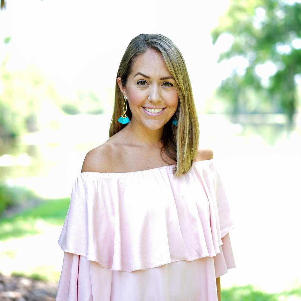 Turquoise tassel earrings, blush pink off shoulder