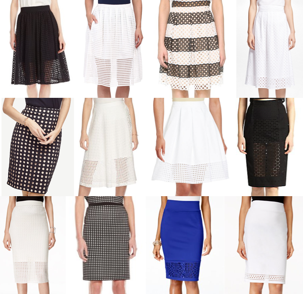 Perforated skirts under $100