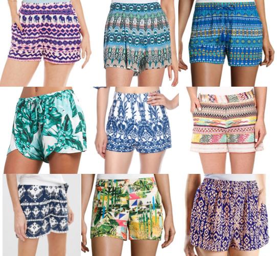 Printed shorts under $75