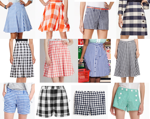 Gingham shorts & skirts under $100