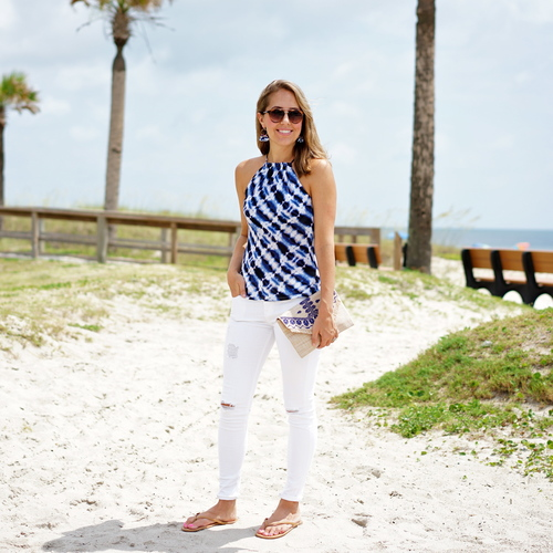 VacayStyle's Two Piece Belize Blue Maxi