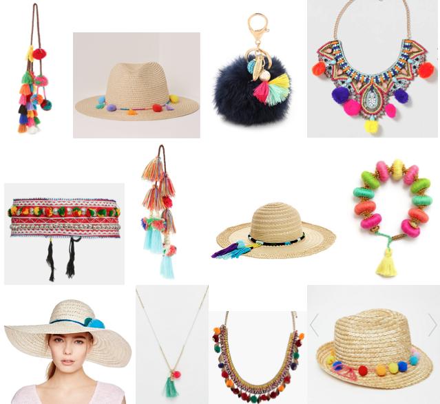 Pom pom accessories under $70