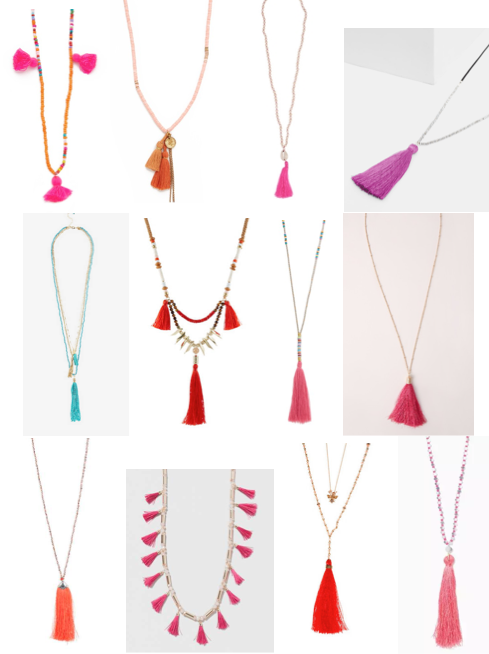 Tassel necklaces under $65