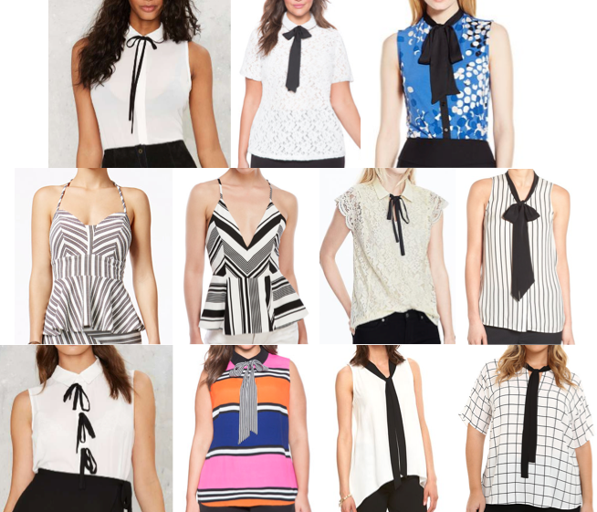 Bow tie tops under $75