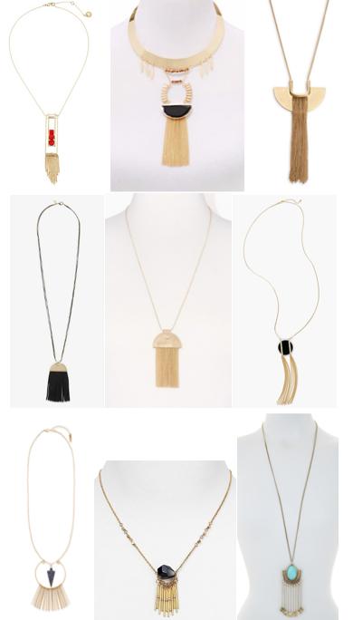 Fringe pendants on a budget