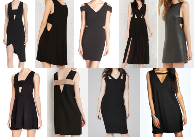 Black cut out dresses on a budget