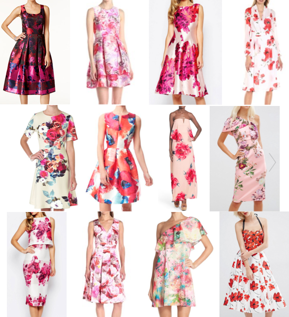 Floral dresses on a budget