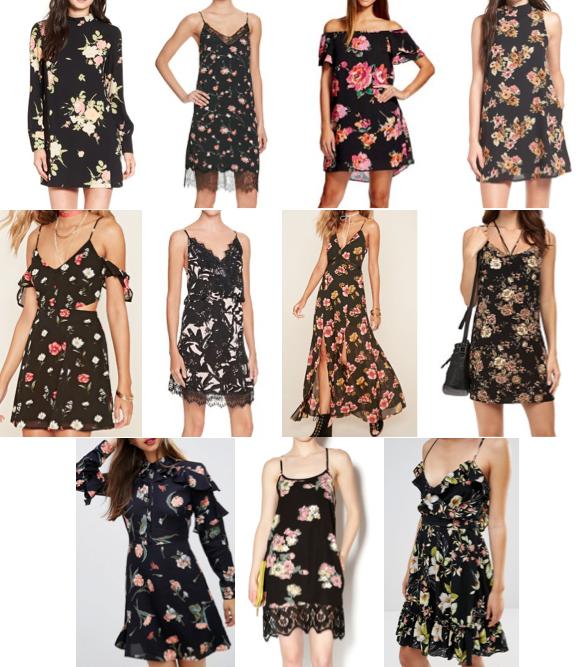 Black floral dresses under $100