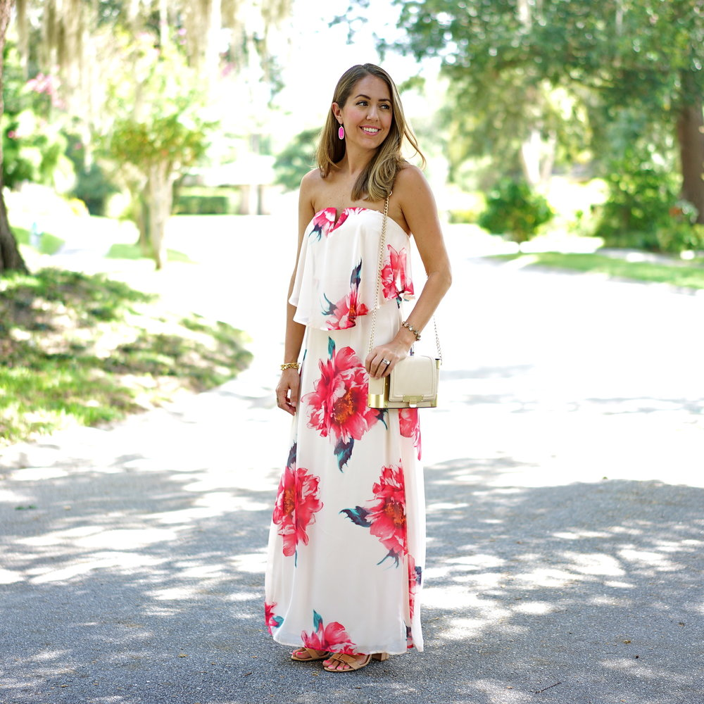 Pink floral maxi
