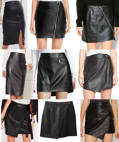 Leather skirts on a budget