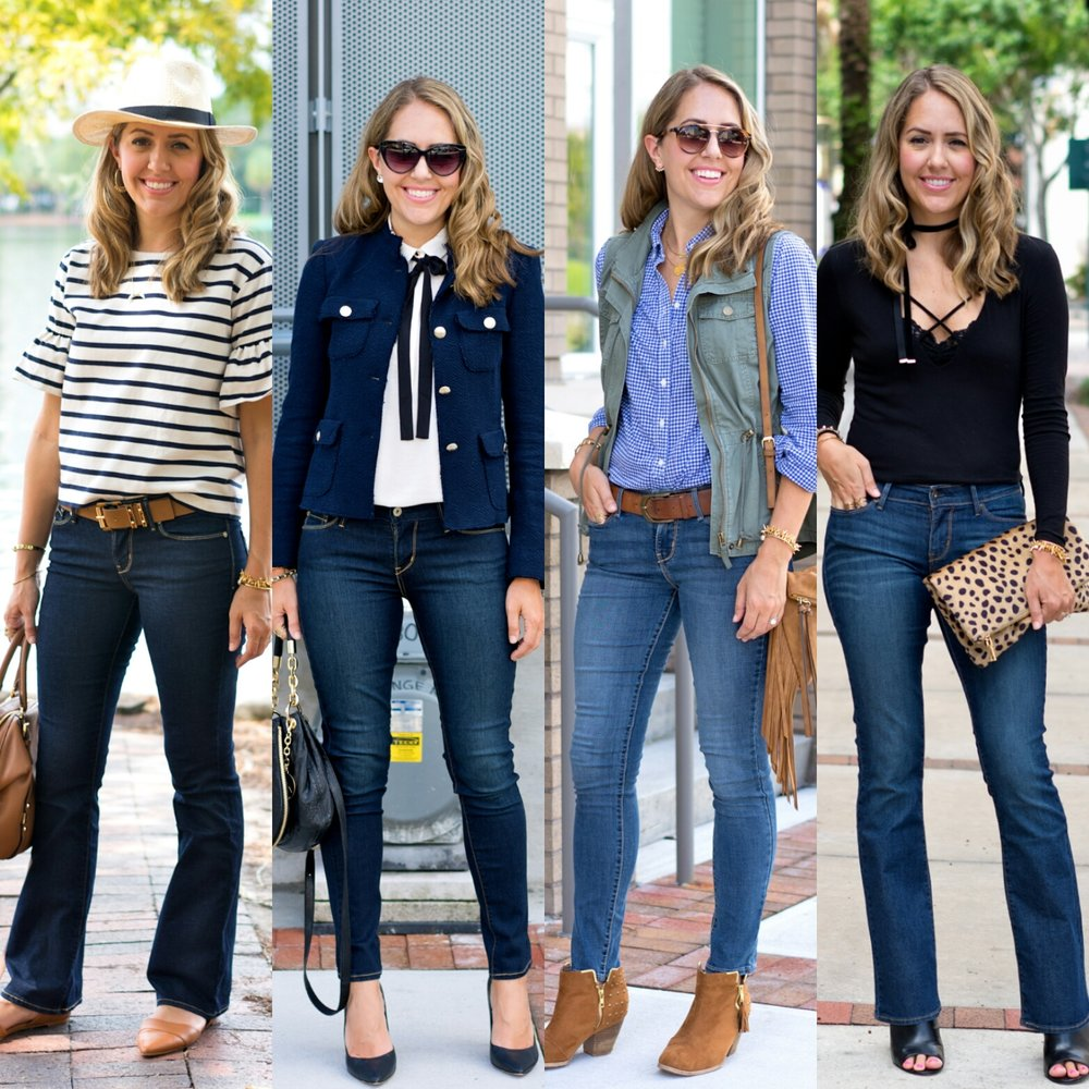 Four outfits with DENIZEN® from Levi's® jeans