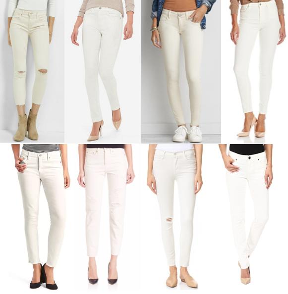 Ivory jeans on a budget