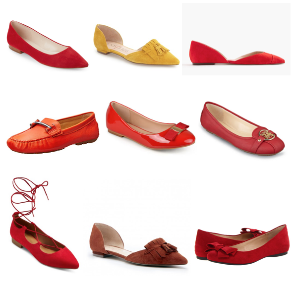 Red flats under $100