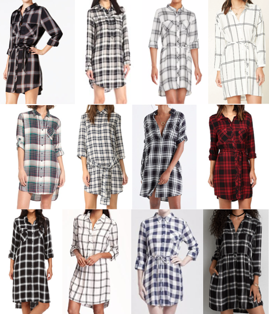 Plaid shirt dress on a budget