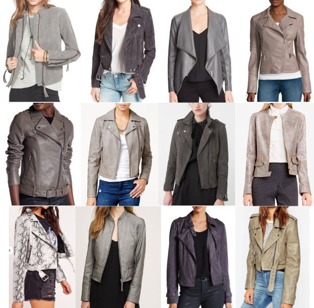 Gray leather jackets on a budget
