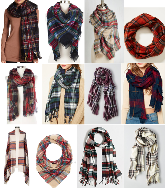 Plaid scarf on a budget