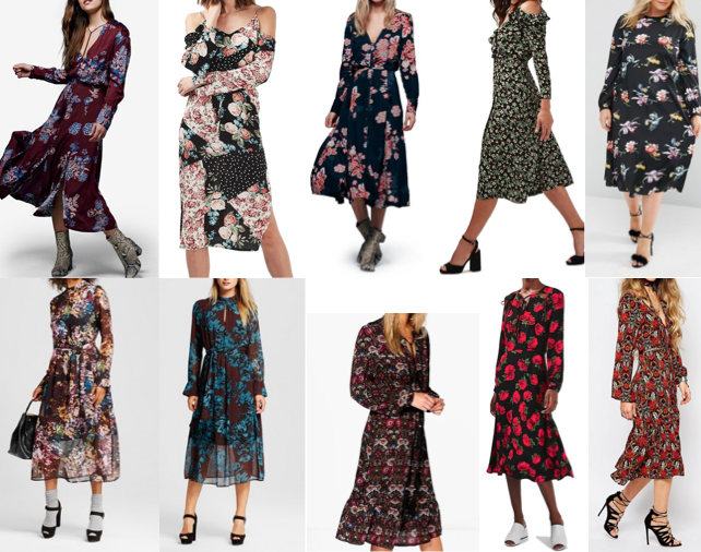 Long sleeve midi dresses on a budget