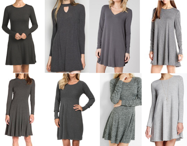 Gray dresses on a budget
