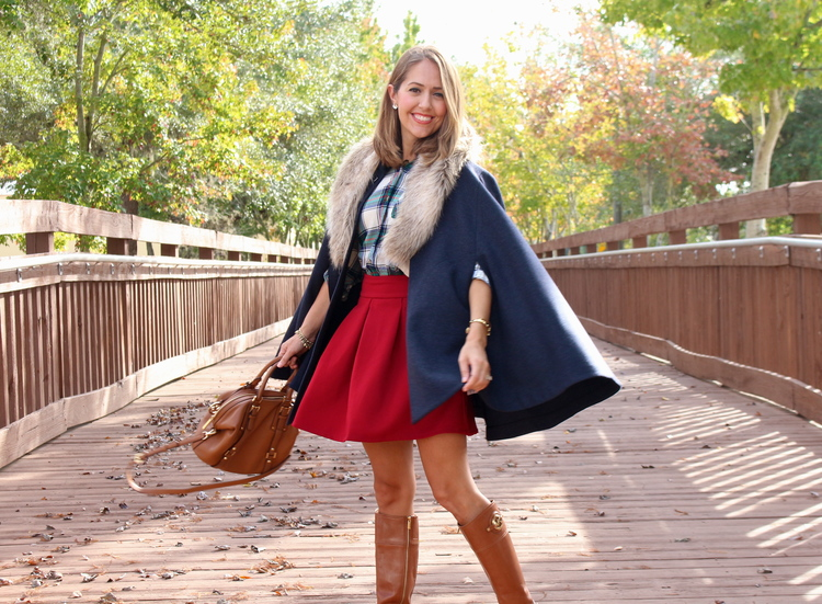 Navy+cape,+plaid+top,+red+skirt,+riding+boots.jpeg