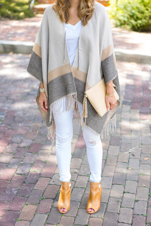 Neutral+striped+poncho+with+white+jeans.jpeg
