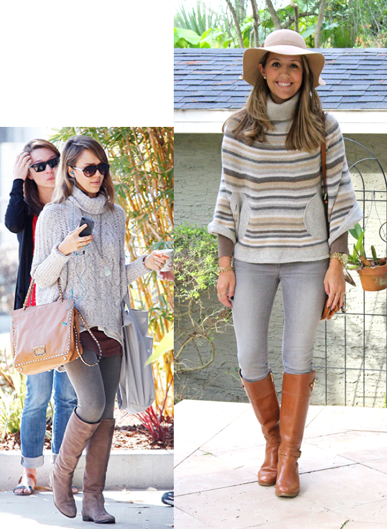 Look+for+less-+Jessica+Alba+gray+and+brown+sweater+and+boots+outfit.png