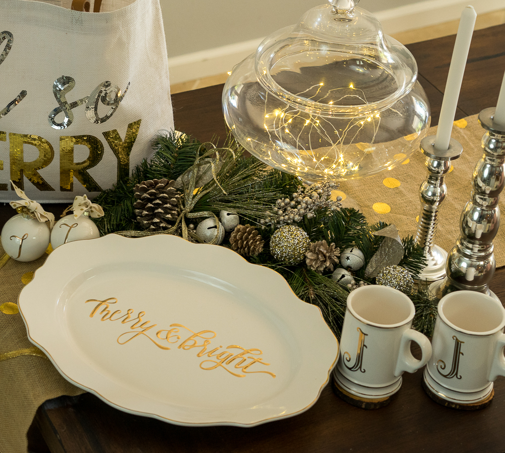 Christmas platter and decor