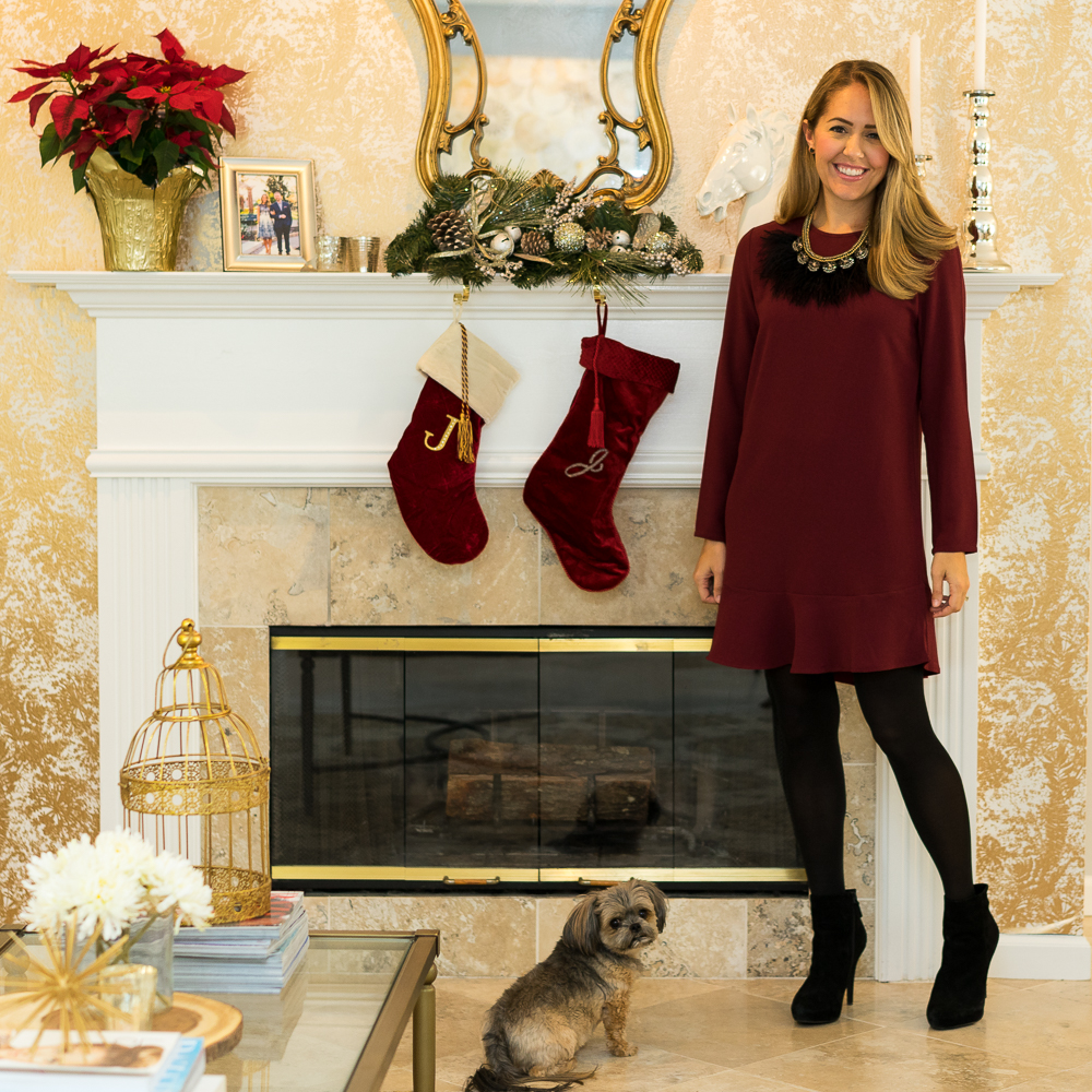 Christmas at home, fireplace, stockings