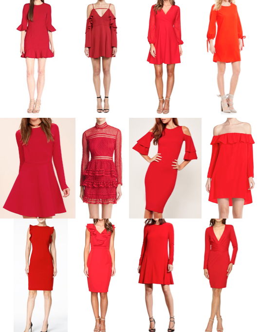 Red dresses on a budget
