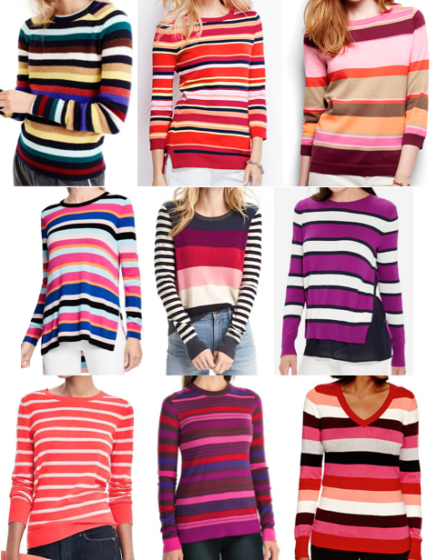 Striped sweaters on a budget
