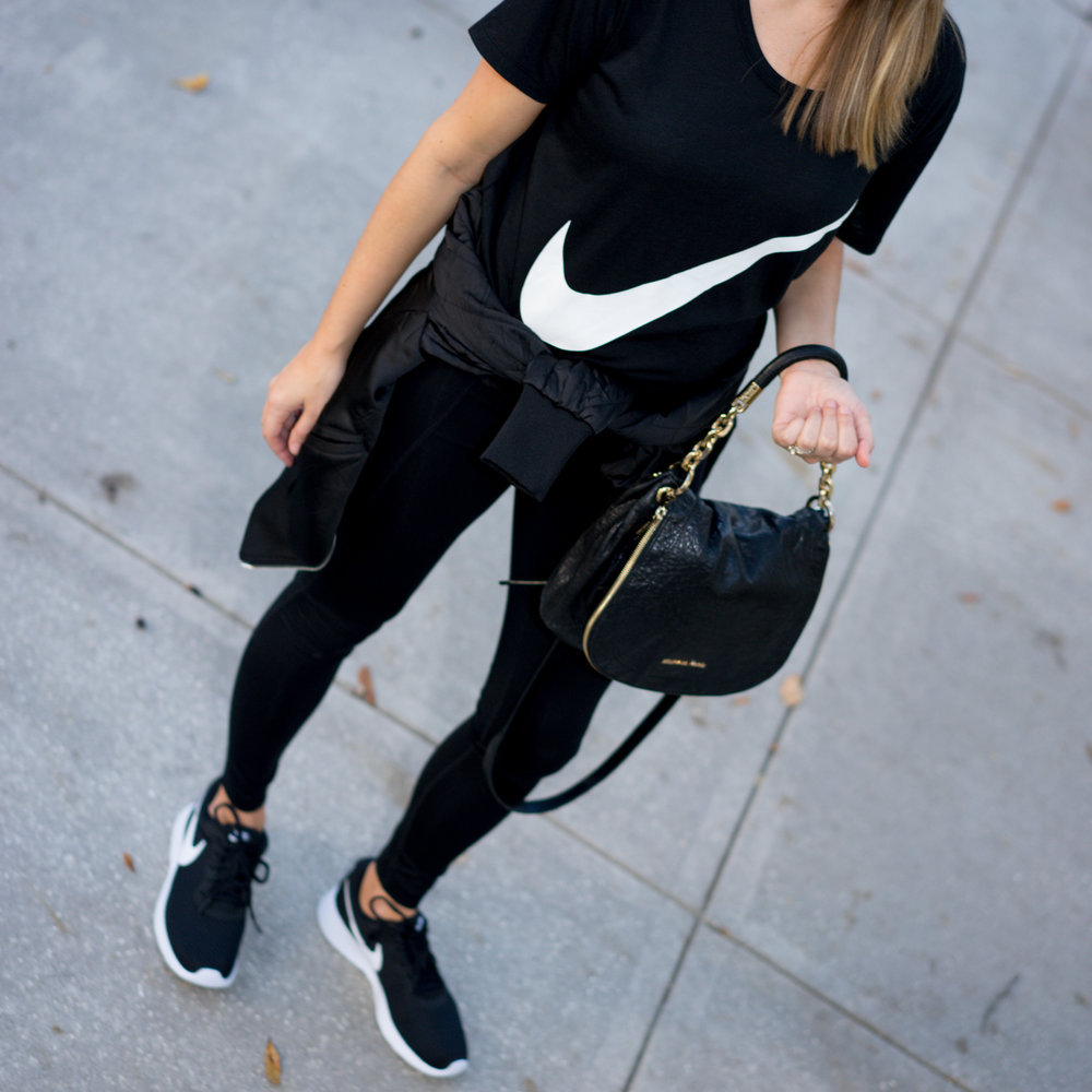 Nike tee, Nike trainers