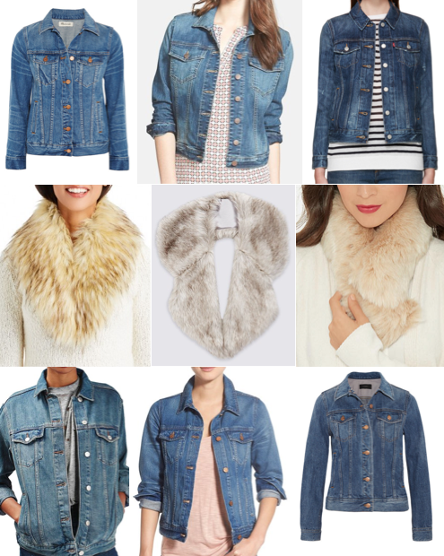 Denim jackets and fur collars on a budget