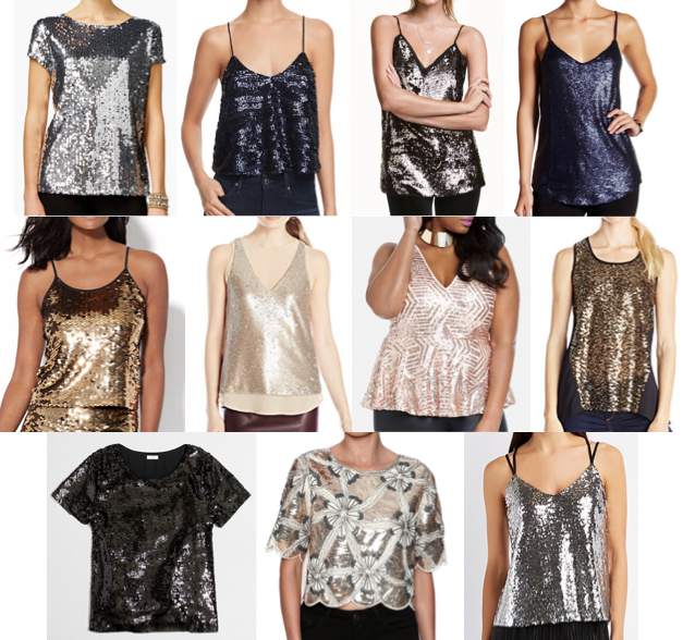 Sequin tops on a budget
