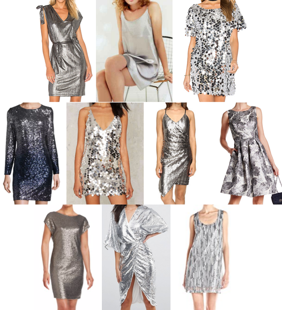 Silver dresses on a budget