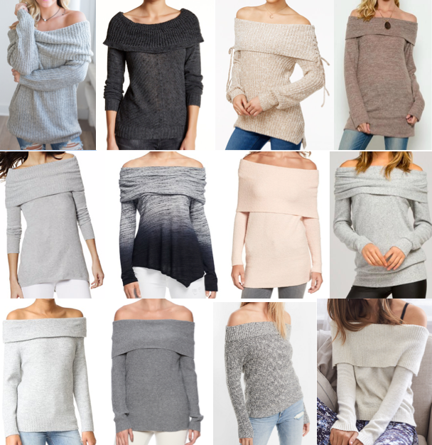 Off shouldler sweaters under $100