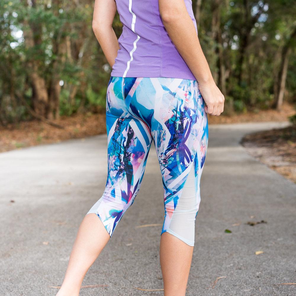 Lavender pastel yoga outfit