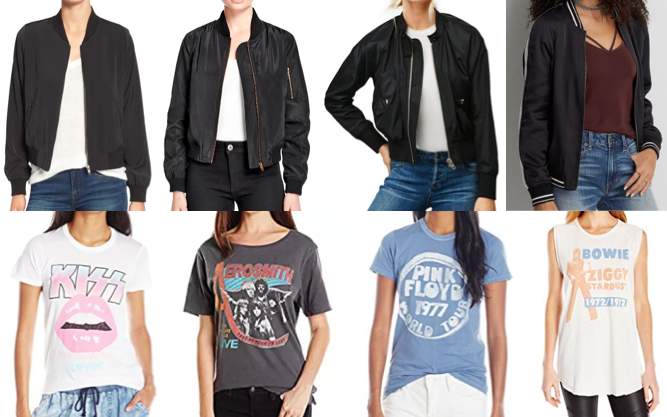 Bomber jackets and graphic tees on a budget