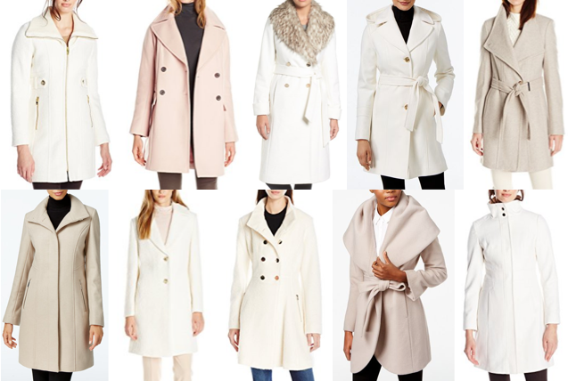 Ivory wool coats on a budget