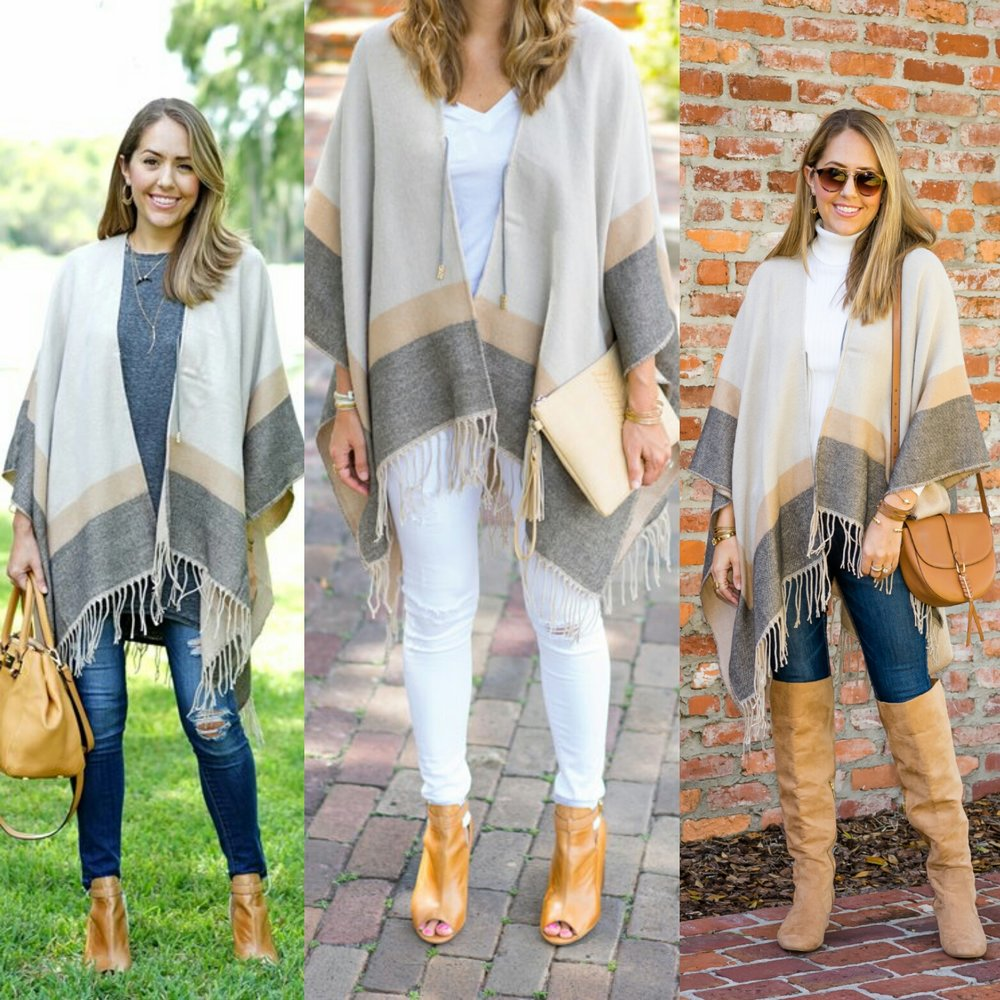One poncho, three ways
